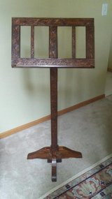 Handmade Wood Music Stand in Yorkville, Illinois