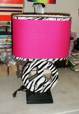Zebra print Peace Sign Lamp in Cleveland, Texas