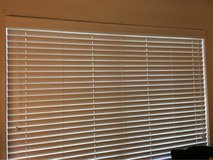 """2"""" white wood faux blinds in Houston, Texas"""