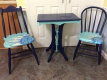 Vintage table and 2 chairs, painted in Quantico, Virginia