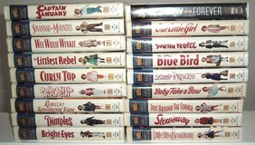 Lot of 18 Vintage 1995 Shirley Temple Fox Family Feature Video Collection VHS Movies in Joliet, Illinois