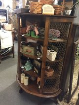 Antique curio cabinet w/curved front in Bartlett, Illinois