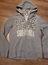 Justice softball zip-up jackets in Bolingbrook, Illinois