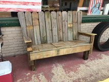 Wood Cooler Bench in Leesville, Louisiana