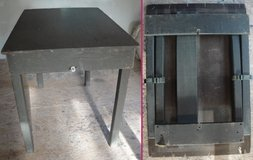 US Army Military Wood Field Table Desk Folding Legs 7105-269-9275 Vietnam Viet Nam in Byron, Georgia