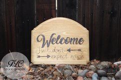 Personalized welcome sign in Fort Carson, Colorado