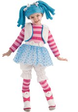 Halloween Costume Small 4-6 = 3T Toddler Girls NEW Lalaloopsy Deluxe Mittens Fluff n Stuff   Lal... in Morris, Illinois