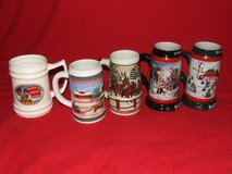 Beer Stein Collection Stoneware & Ceramic Budweiser Miller Morgan in Bolingbrook, Illinois