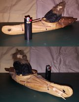 Inuit Kayak with Hunter and Harpoon in Beaufort, South Carolina