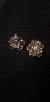 Crystal Flower Stud Earrings in Fairfax, Virginia