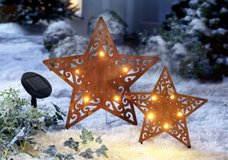 Solar Stars Decorations, with LED Lights, Garden Stakes in Ramstein, Germany