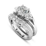 ****BRAND NEW*** CZ Wedding Set With Engraving On Bands***SZ 8 in Kingwood, Texas