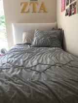 Grey TWIN XL Comforter AND Matching Sham- Great for College or Child's room! in Bolingbrook, Illinois