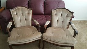 Two solid wood sitting chaires in Hemet, California
