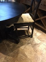"Small 42"" black farmhouse table and 4 chairs in Spring, Texas"
