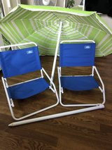 Beach/Outdoor chairs with free beach umbrella in West Orange, New Jersey