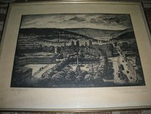 Antique Lithograph of Stuttgart Germany in Fort Meade, Maryland