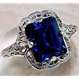 ***BRAND NEW***STUNNING Sapphire Emerald Cut Ring***SZ 8 in The Woodlands, Texas