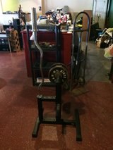 Curl Bar and Weight Bar Stand in Fort Polk, Louisiana