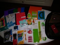 Mesh backpack with school supplies in Spring, Texas