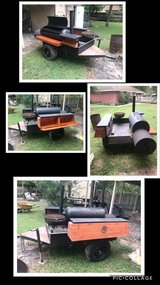 Bbq pit on trailer in The Woodlands, Texas