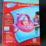 SUN CANOPY BABY BOAT NEW New in box PINK Adjustable Canopy in Joliet, Illinois