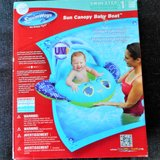 SUN CANOPY BABY BOAT NEW New in box Adjustable canopy BLUE in Joliet, Illinois