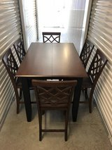 New...Counter-Height Dining Table with hidden leaf extension & 6 Counter-Height Chairs in Camp Lejeune, North Carolina
