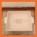 New Rae Dunn Large FEAST Casserole Dish in Fort Eustis, Virginia