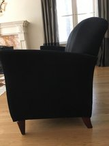 Black Suede couch in Glendale Heights, Illinois