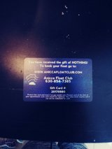 A gift card to float cub in Naperville, Illinois