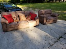 Suede Microfiber Couch Set! in Byron, Georgia