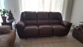 REDUCED Leather Couch in Ramstein, Germany