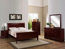 NEW QUEEN BED 1 NIGHT STAND DRESSER AND MIRROR in 29 Palms, California