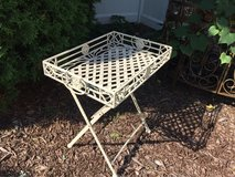 Folding Heavy Wrought Iron Patio / Garden Tray in Chicago, Illinois