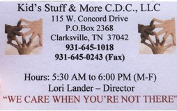 Childcare Provider in Clarksville, Tennessee