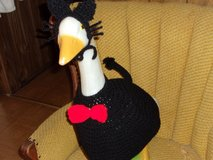 Cat Black Geese Goose Outfit Crochet OUtdoor Decor Garden Orn in Belleville, Illinois