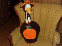 Pumpkin Geese Goose Outfit Crochet Lawn Goose Clothes in Belleville, Illinois