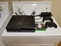 Xbox One with two controllers and Halo 5 in Fort Irwin, California