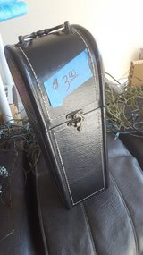 Black Leather Decor Wine Box in Camp Lejeune, North Carolina