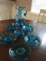 vintage glass pitcher with 5 cups and 7 saucers in Spring, Texas