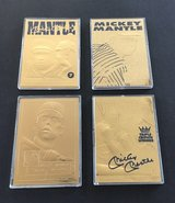 ** 1996 Bleachers 22kt -23kt Gold MICKEY MANTLE 4 Card Lot (or $12 each) with COA ** in Tacoma, Washington
