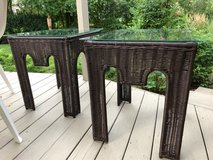 : ) Patio All Weather Wicker End Tables in Aurora, Illinois