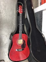 acoustic guitar with hard case in Travis AFB, California