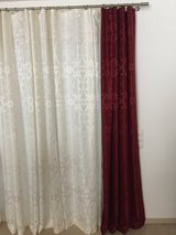 Red, off white, or gray curtains in Ramstein, Germany