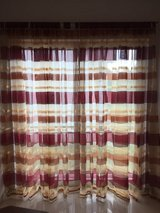 Striped, flat panels, and shorter curtains in Ramstein, Germany