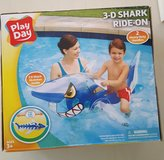 3-D Shark Ride-on Floatable Toy 5 Feet Long With Handles Play Day in Macon, Georgia
