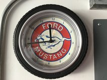 Ford Mustang Tire Clock in Yorkville, Illinois