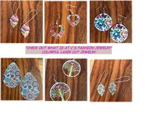 """Want Some Color?"" Laser Lace Enameled Earrings in Las Vegas, Nevada"