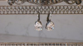 Mariana Clear Pear Shaped Earrings-On A Clear Day Collection in Oswego, Illinois